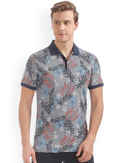 GANT Men Blue Printed Polo Collar T-shirt