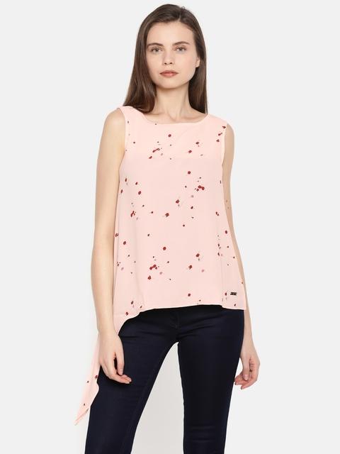 Park Avenue Women Beige Printed Shirt Style Top