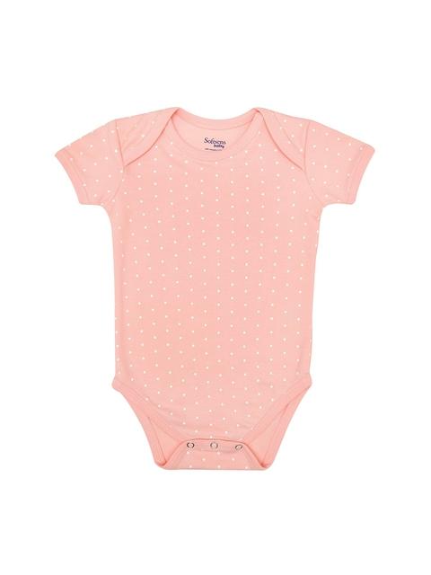 Softsens Kids Pink Polka Dot Print Bodysuit