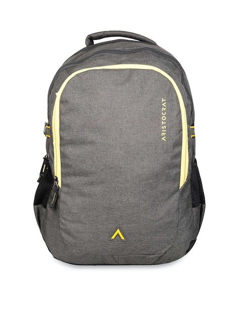 Aristocrat Unisex Grey Solid Backpack