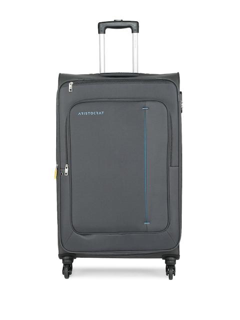 Aristocrat Unisex Grey ELANTRA 4W EXP STROLLY (H) 69 Medium Trolley Bag