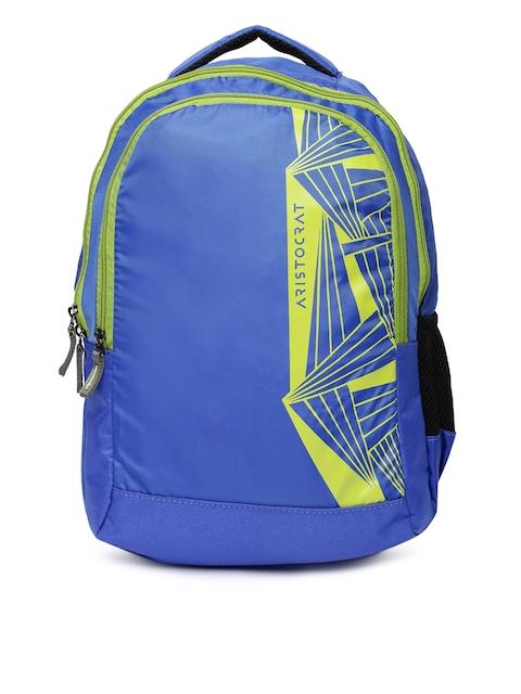 Aristocrat Unisex Blue Printed Zen 1 Backpack
