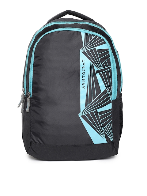 Aristocrat Unisex Black Brand Logo Backpack