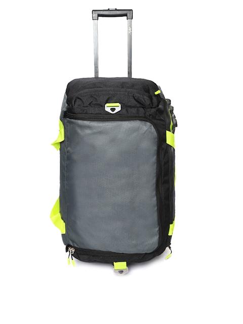Skybags Unisex Grey & Black Xenon Trolley Duffle Bag