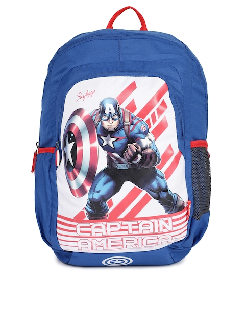 Skybags Unisex Blue Printed Backpack