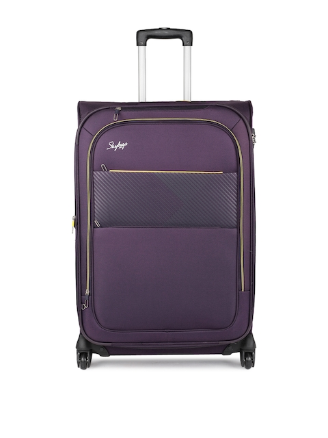 Skybags Unisex Purple JIVE 4W EXP STROLLY 76 Large Trolley Bag