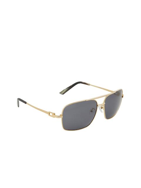 VAST Unisex Rectangle Sunglasses TAC Polarized HD Premium (998821C5_GOLDEN)