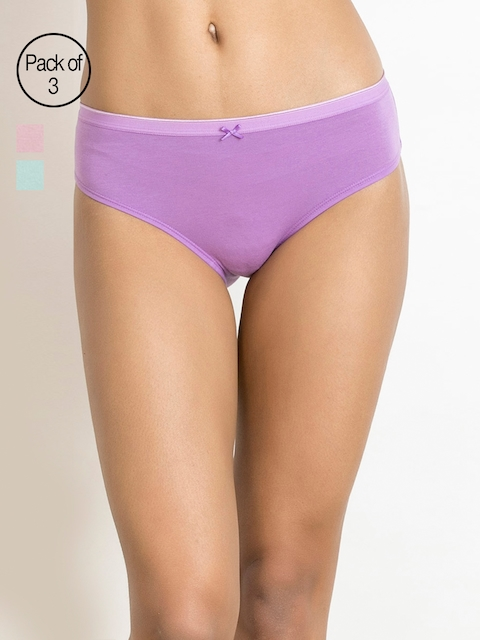 Zivame Women Pack of 3 Assorted Basic Briefs ZI2045COREABLUE