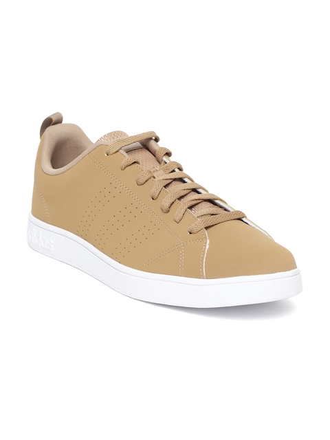 Adidas Men Mustard Brown Solid VS Advantage Clean Shoes
