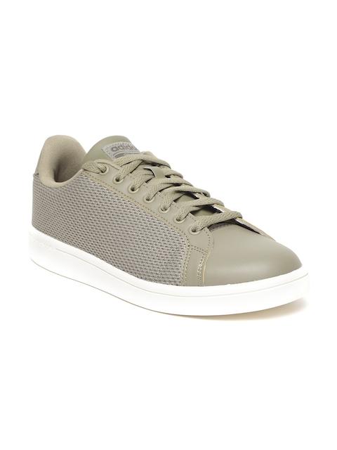Adidas Men Olive Green CF ADVANTAGE CL Sneakers