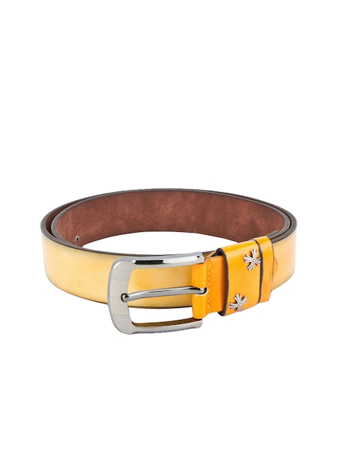 Swiss Design Men Yellow Solid Belt