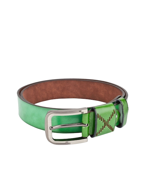 Swiss Design Men Green Solid Belt