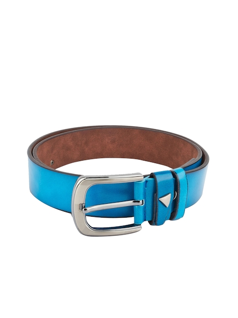 Swiss Design Men Blue Solid Belt