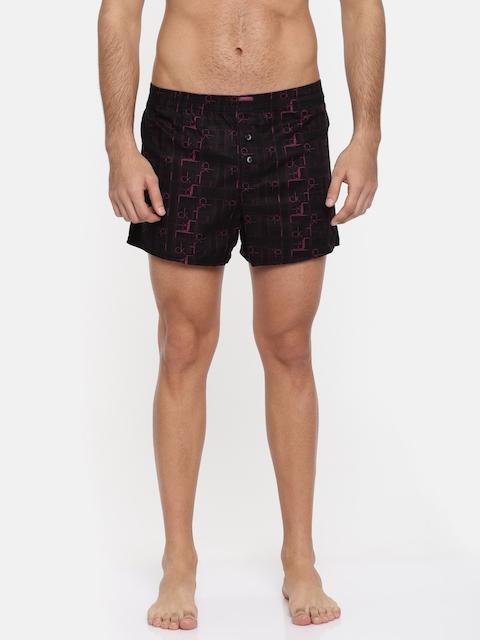 Calvin Klein Innerwear Black & Pink Printed Boxer NU86523NC
