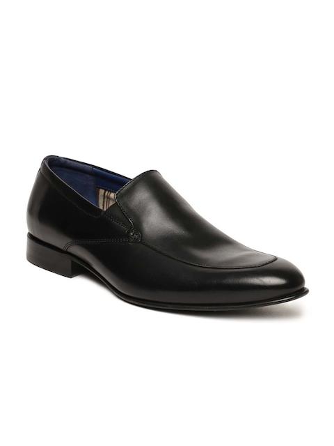 Language Men Black Semiformal Leather Slip-Ons