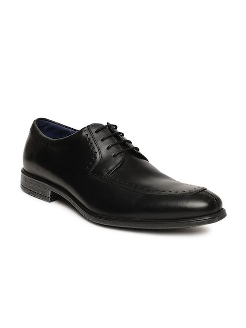Language Men Black Derby Formal Shoes