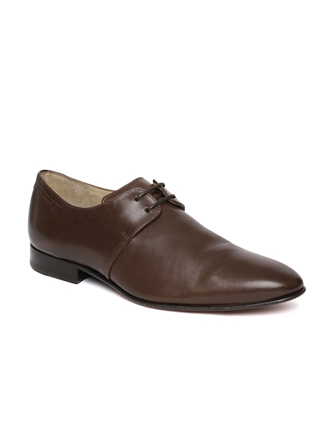 Language Men Brown Leather Oxford Formal Shoes
