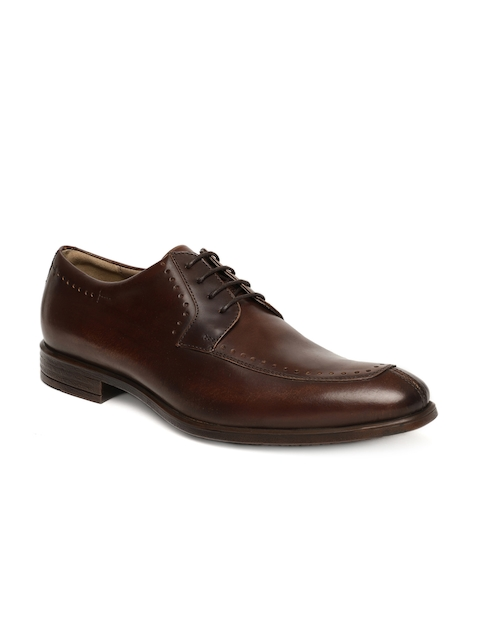 Language Men Brown Leather Derbys
