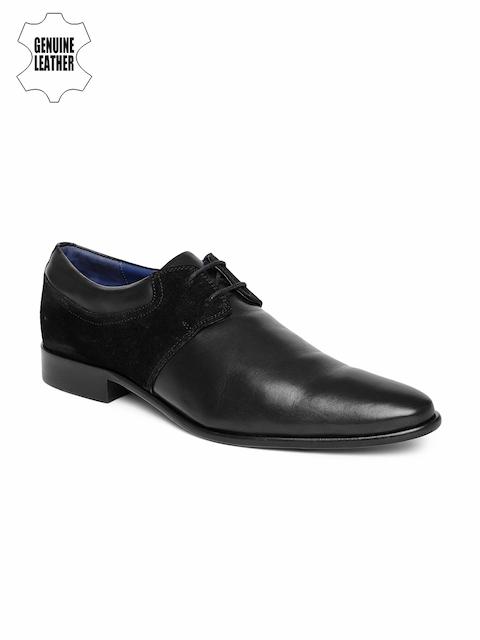 Language Men Black Genuine Leather Formal Shoes
