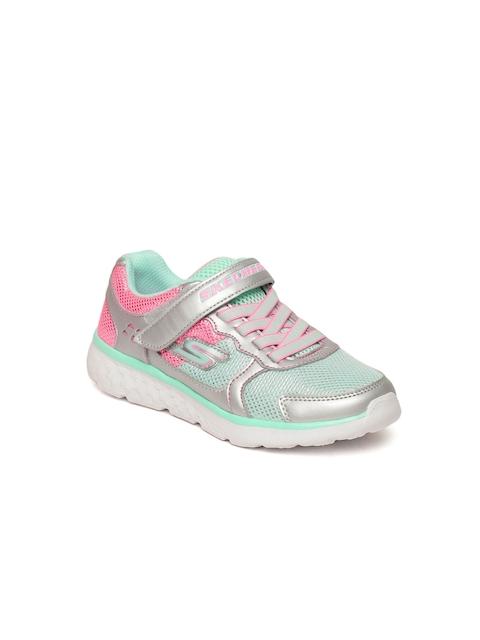 Skechers Girls Green Go Run 400 - Sparkle Sprint Sneakers