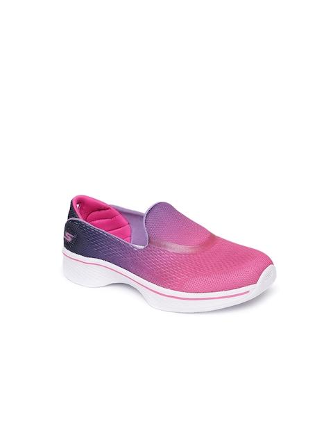 Skechers Girls Pink Walking Shoes GO WALK 4- SPORTY STARZ