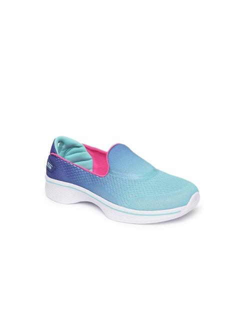 Skechers Girls Blue Running Shoes GO WALK 4- SPORTY STARZ
