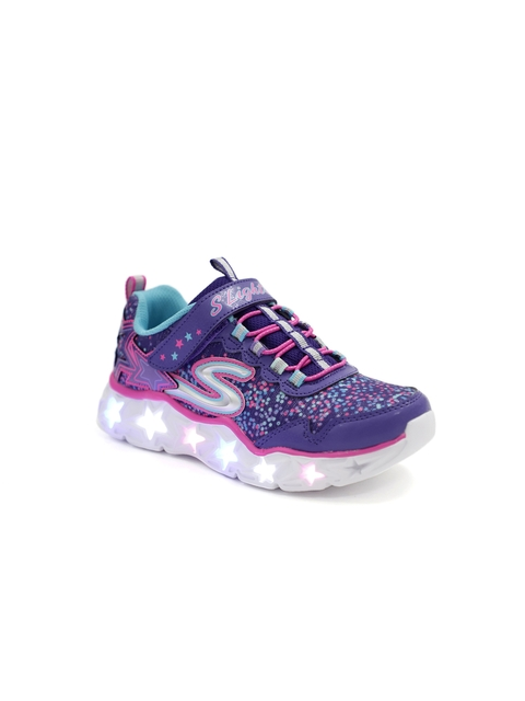 Skechers Girls Purple Galaxy Lights Sneakers With LED Lights