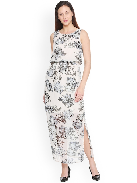 Van Heusen Woman Women Beige Printed Maxi Dress