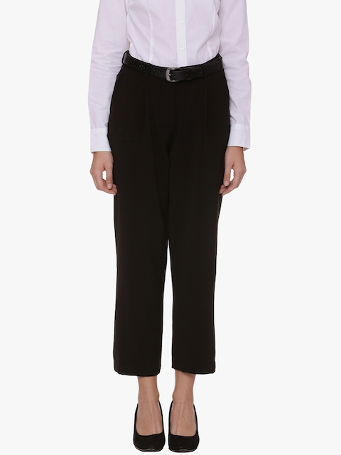 Van Heusen Woman Brown Solid Formal Trousers