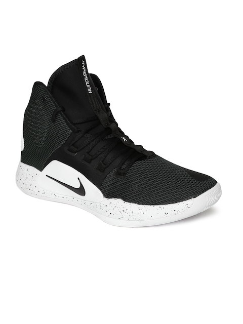 Nike Men Black Hyperdunk X Mid-Top Basketball Shoes