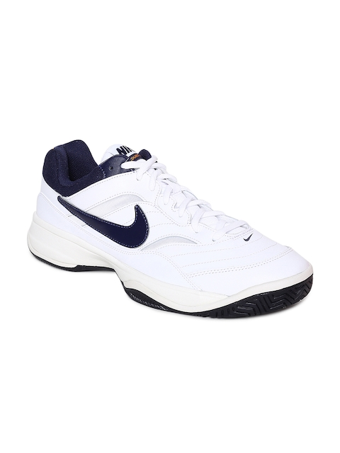 Nike Men White COURT LITE Tennis Shoes