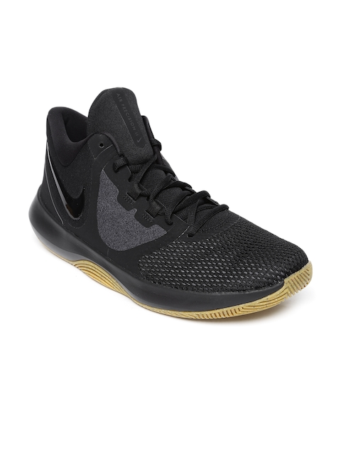 Nike Men Black Air Precision II Basketball Shoe