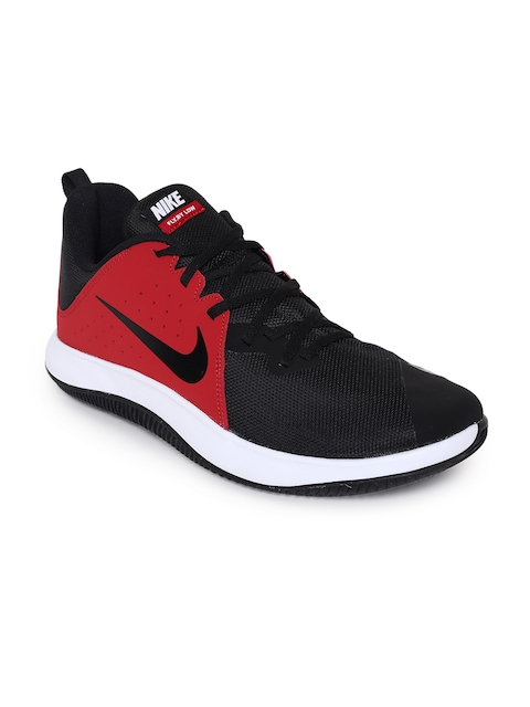Nike Men Red & Black FlyBy Low Basketball Shoe