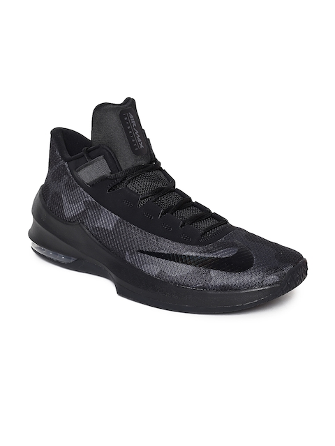 Nike Men Black Textile High-Top AIR MAX INFURIATE 2 Basketball Shoes