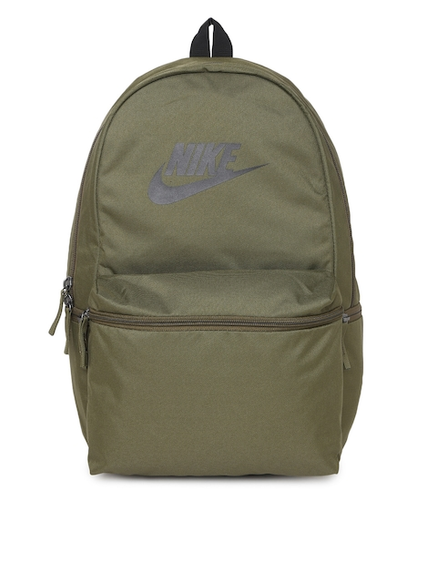 Nike Unisex Green Solid Backpack