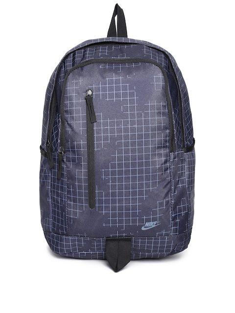 Nike Unisex Navy Blue Geometric Backpack