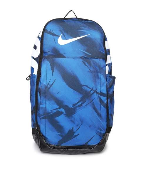 Nike Unisex Blue & Black Brand Logo Backpack