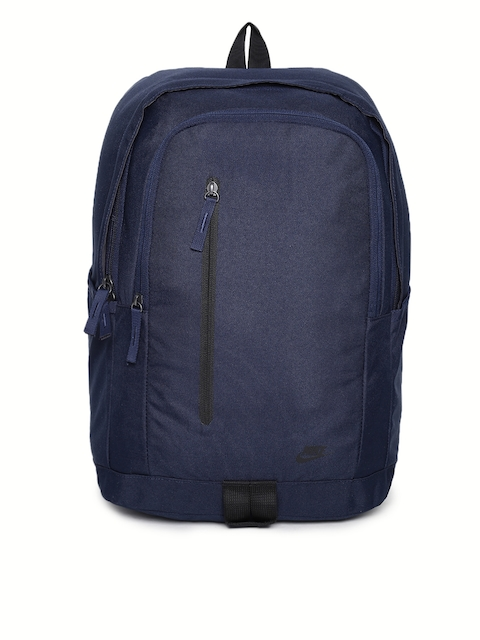 Nike Unisex Navy Blue Solid Backpack