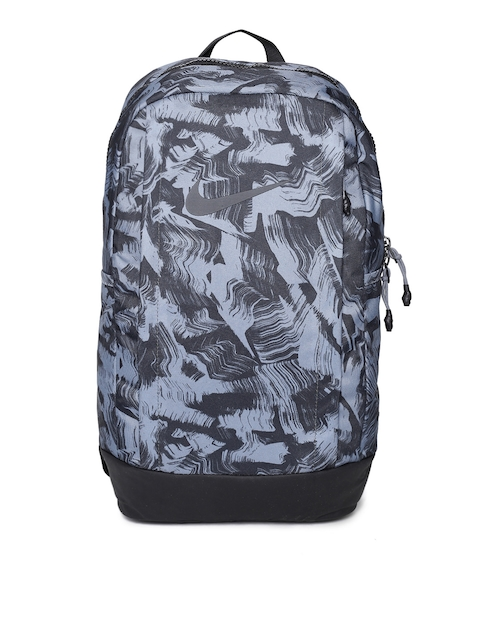 Nike Men Black & Grey Graphic Backpack