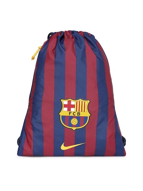 Nike Unisex Blue & Red Brand Logo Backpack