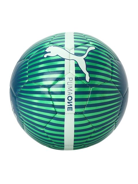 Puma Unisex Green & Navy-Blue Printed Chrome Training Football