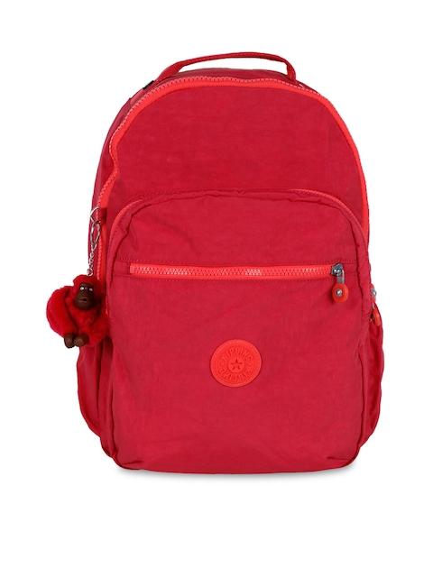 Kipling Unisex Pink Solid Seoul Up Backpack