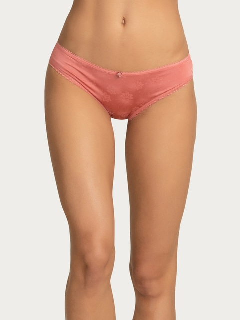 Zivame Women Coral Pink Bikini Briefs ZI2194FASHORNGE