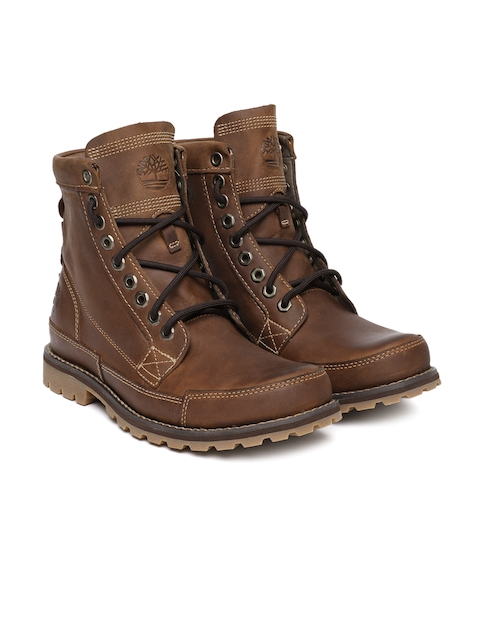 Timberland Men Brown Leather Earthkeeper Burnish 6 Inch Boots
