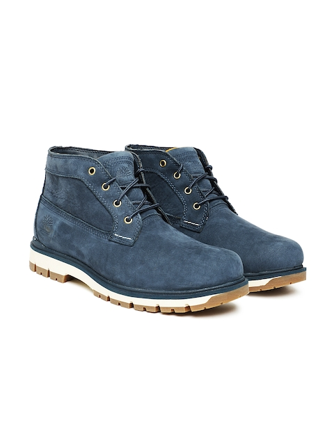Timberland Men Blue RADFORD CHKA NVY Leather Flat Boots