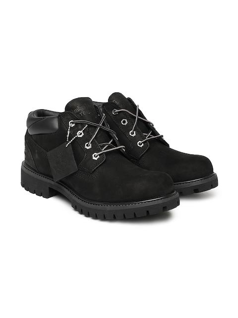 Timberland Men Black Flat CLASSIC OX BLACK NB Leather Boots