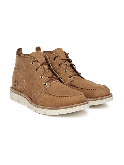 Timberland Men Brown Westmore Leather Chukka Boots