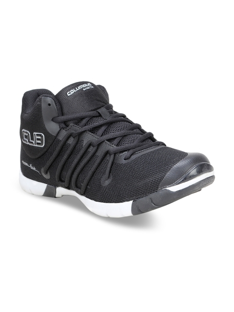 Columbus Men Black Flippo Black Running Shoes
