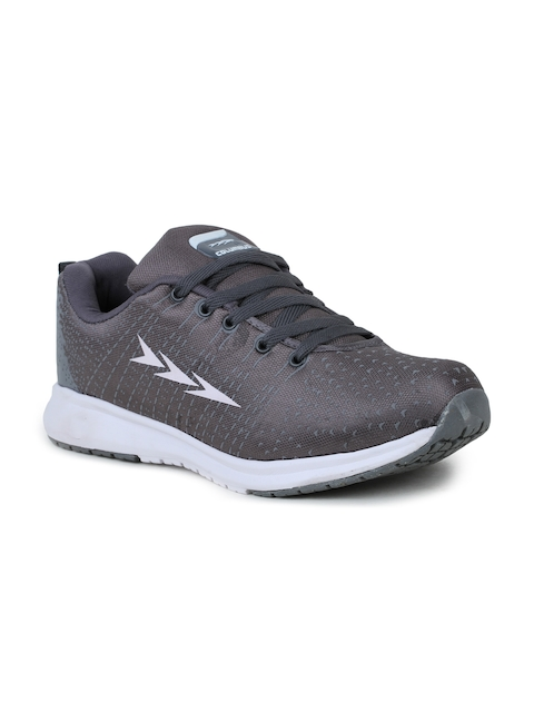 Columbus Men Grey and White Running Shoes