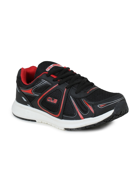 Columbus Men Black and Red Running Shoes